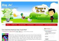 Blog yang mengusung slogan 'Amateur, original, and no Plagiarism'