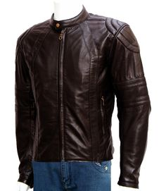 Soft Sheep Leather Men Quilted Jacket