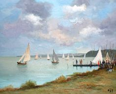"""dyf marcel regatta on the etang of san quentin (from <a href=""""http://www.oldpainters.org/picture.php?/24704/category/11484""""></a>)"""