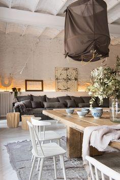 Cogiendo un poco de estilo #vintage, #industrial y #nórdico es posible crear una #casa así de espectacular.