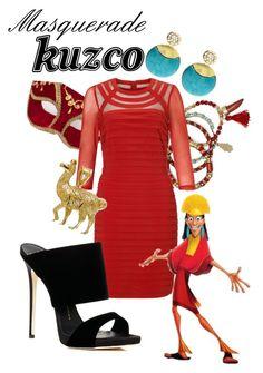 """Masquerade: Kuzco"" by jivy44 ❤ liked on Polyvore featuring Gemma Simone, Adrianna Papell, Amrita Singh and Giuseppe Zanotti"