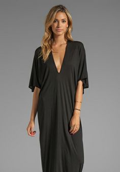 RILLER & FOUNT Robyn Caftan Maxi in Black - Dresses  Love this