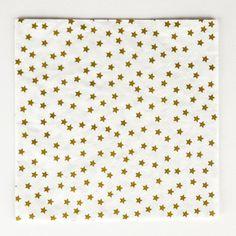 20 serviettes étoiles dorées My Little Day