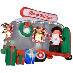 httpwwwbigdaddyrvscom here is another great camper themed christmas - Christmas Camper Decoration