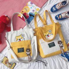 crossbody bag on Mercari Cute Tote Bags, Reusable Tote Bags, Backpack Purse, Crossbody Bag, Diy Bags No Sew, Sacs Design, Fabric Bags, Canvas Tote Bags, Fashion Bags