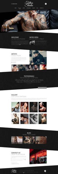 Tattoo Studio PSD Website