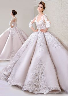 Luxury Lace Wedding Dresses 2017 Modest Saudi Arabic Bridal Gowns With Buttons Ball Gown African Wedding Gowns robe de mariage Wedding Dress Backs, Long Wedding Dresses, Princess Wedding Dresses, Bridal Dresses, Designer Wedding Gowns, Luxury Wedding Dress, Gown Wedding, 2017 Wedding, Designer Dresses