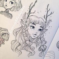 November 19th #dailydrawing [Antlers]. #artstagram #illustration #sketch #sketchbook #ink #ballpointpen #uniball #hitecc #fae #faerie #faun #design #instaart #igdraws #creative_instaarts #sketch_daily #abeautifulmessapp