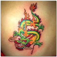Chinese Tattoos | ... Chinese Tattoos Design Page 4 - WakTattoos.com | Free Online Tattoos Small Dragon Tattoos, Dragon Tattoo For Women, Japanese Dragon Tattoos, Japanese Tattoo Art, Dragon Tattoo Designs, Ram Tattoo, Arrow Tattoo, Tattoos For Kids, Tattoos For Women