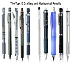 The difference clearly explained between a drafting & mechanical pencil with our top 5 recommendations for each type of pencil. Best Mechanical Pencil, Mechanical Pencils, Rotring 600, Types Of Pencils, Drafting Pencil, Drawing Tools, Sketching, Metal Barrel, Balloon Garland