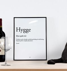 Danish Hygge Translation Wall Art Printable.  Hygge is simple. That feeling of comfort and coziness expressed so simply by the Danes.  Simply