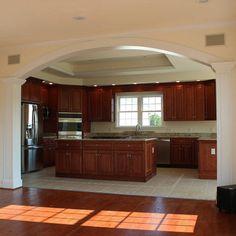 Kitchen Room Design, Kitchen Layout, Home Decor Kitchen, Kitchen Interior, Interior Design Living Room, Kitchen Ideas, Elegant Kitchens, Layout Design, Design Ideas