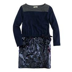 A Very Secret Pinterest Sale: 25% off any order at jcrew.com for 48 hours with code SECRET.  Girls' sequin skirt dress