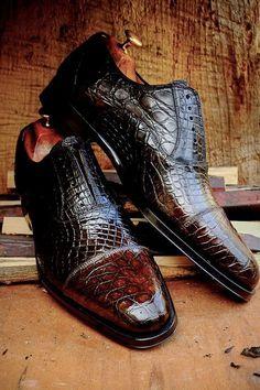 Alligator shoes for men, crocodile shoes, best leather shoes