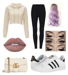 """""""Untitled #33"""" by myclothsoffashon on Polyvore featuring Gucci and adidas"""