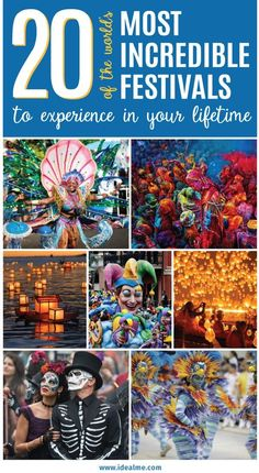 Every year, at various venues around the planet, countless festivals are held. Here are our top 20 picks of the World's Most Incredible Festivals. Festivals Around The World, Best Festivals, Travel Around The World, Places Around The World, Music Festivals, Travel Destinations, Places To Travel, Travel Goals, Travel Tips