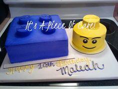 Lego Cake, Buttercream Icing, Fondant Facial Features  https://www.facebook.com/ItsAPieceofCakeWV