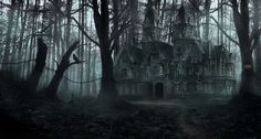 Creepy forest house