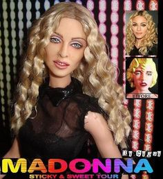 OOAK Madonna Sticky and Sweet Tour Barbie Doll Repaint Reroot MDNA CD Cyguy Fr | eBay