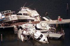 Hurricane Andrew damage Dinner Key Marina.  (Carl Seibert, Sun Sentinel)