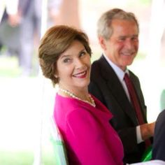 Laura Bush - So classy  classic. I am reading the book AMERICAN WIFE fictional story based on her life. I love her EVEN more now! She is the real deal!