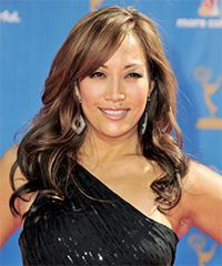 awesome Carrie Ann Inaba  Hairstyle - Long Wavy Formal