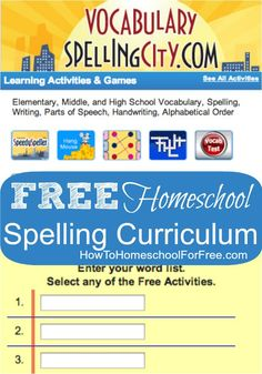 Get a FREE complete Spelling curriculum online with Spelling City!!  | HowToHomeschoolForFree.com