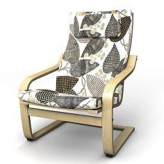 Poäng, Armchair Covers, Armchair, Regular Fit using the fabric Panama Cotton Absolute White