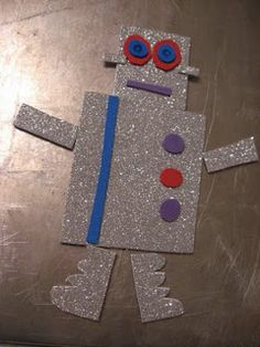 Robot magnet play - build him any way you want over and over.