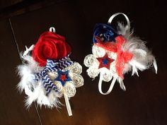 My twins 4th of July headbands I made