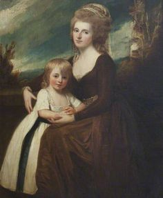 Frances Bankes (1756–1847), Lady Brownlow, with Her Son, The Honourable John Cust (1779–1853), Later 1st Earl Brownlow, GCH, FRS, MP, 1783