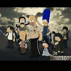it doesn't get better than this.  #thewalkingsimpsons