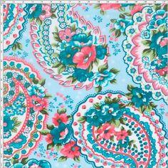 Tecido Estampado para Patchwork - Cashmere Floral Verde 03 (0,50x1,40) 100% Algodão  Fabricante:  Fernando Maluhy