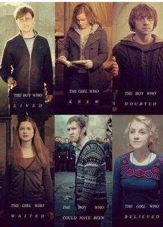 We Are The Harry Potter Generation. (Except I think Ginny could use a better description- Ginny's whole character was just overlooked in the movies)