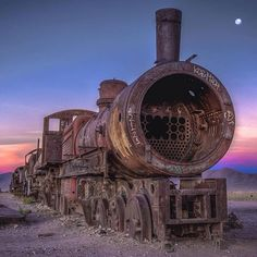 Train in Uyuni, Bolivia.                                                       …