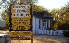 The Dalton Gang Hideout Meade, Kansas- Great Grandmother's birthplace Dalton Gang, Old West Outlaws, Famous Outlaws, South Dakota, Wild West, Weekend Getaways, Kansas, Tourism, Road Trip