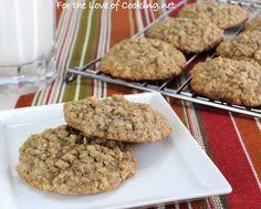 Maple Cinnamon Oatmeal Cookies.  Sounds yummy!