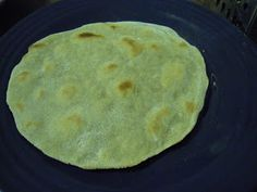 Buckwheat Tortilla Recipe, I used Teff flour instead and fried them to make tostadas.