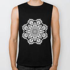 Meditation Abundance Flower Biker Tank by azima Zen Colors, Reiki Meditation, Summer Of Love, Sacred Geometry, Namaste, White Flowers, Pilates, Cave, Boho Fashion