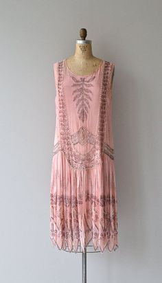 Rose Royale dress vintage 1920s dress silk beaded by DearGolden | vintage 20s fashion style