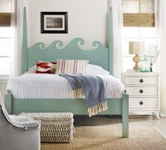 This headboard is such a great idea!