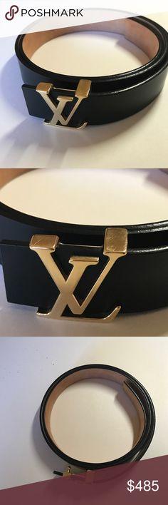 Louis Vuitton Gold Plate Men Belt Louis Vuitton Men Louis Vuitton Accessories Belts