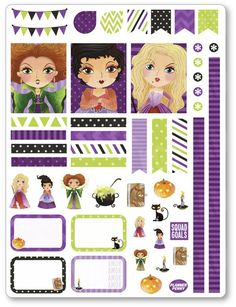 New product: Hocus Pocus Decor...! Get it here: http://www.plannerpenny.com/products/hocus-pocus-decorating-kit-weekly-spread-planner-stickers?utm_campaign=social_autopilot&utm_source=pin&utm_medium=pin