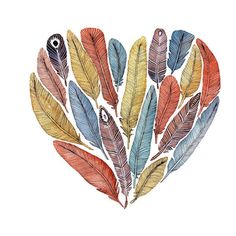 FEATHERS! i need this on a shirt or my wall or something! :)
