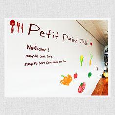 店内の壁に、こんなかわいいイラストはいかが? →ここで素材をダウンロードできるよ♪ http://petitpaint.niteandday.tokyo/