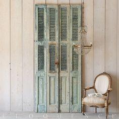 Eloquence® Sea Blue-Green Vintage Shutters: 1940