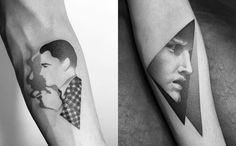 portrait tattoo, and michelangelo tattoo by dotyk.tattoo