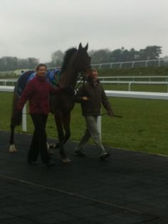 In the paddock before his win at Chepstow - March 2013