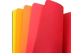 Dragon's Breath dot grid Travelers Notebook insert – STAPLED/PRINTED - dotted refill - Traveller's - all sizes Rainbow Pages, Orange Paper, Grid Design, Sunset Sky, Colored Paper, Shades Of Red, Travelers Notebook, Filofax, Card Stock