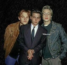 Hot young actors: Johnny Depp, Brad Pitt and Leonardo DiCaprio Hot young actors: Johnny Depp, Brad Pitt and Leonardo DiCaprio Johnny Depp Joven, Johny Depp, Young Johnny Depp, Johnny Depp 1990, Beautiful Boys, Pretty Boys, Simply Beautiful, Junger Johnny Depp, Young Leonardo Dicaprio